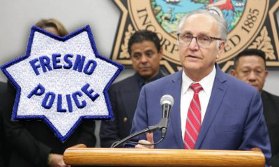 Photo combination of Mayor Lee Brand and the Fresno Police logo