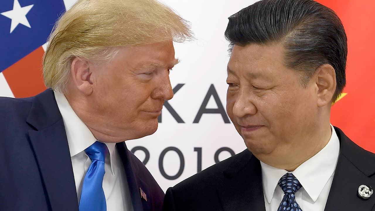 Photo of President Donald Trump and Chinese President Xi Jinping
