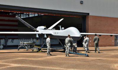 Photo of an MQ-9 Reaper drone undergoing maintenance