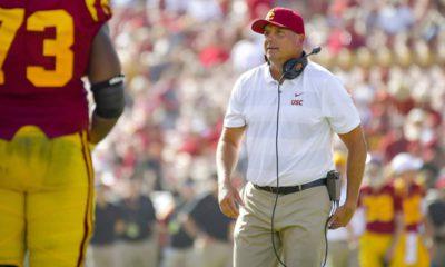 Photo of USC football coach Clay Helton