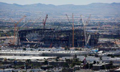 Photo of Raiders football stadium under construction in Las Vegas