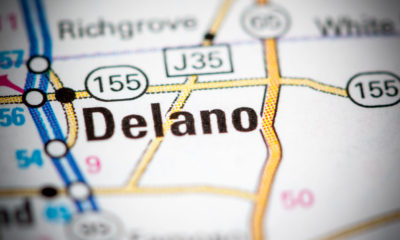 Delano on a map