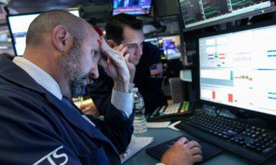Photo of specialist James Denaro at the New York Stock Exchange