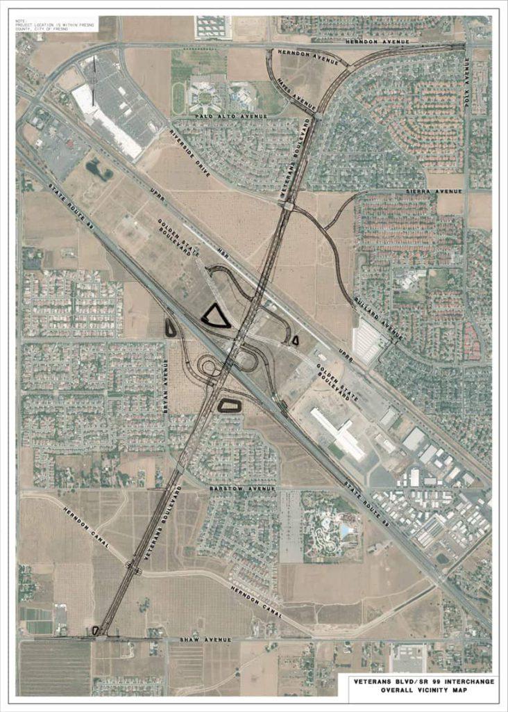 Map of Veterans Boulevard project