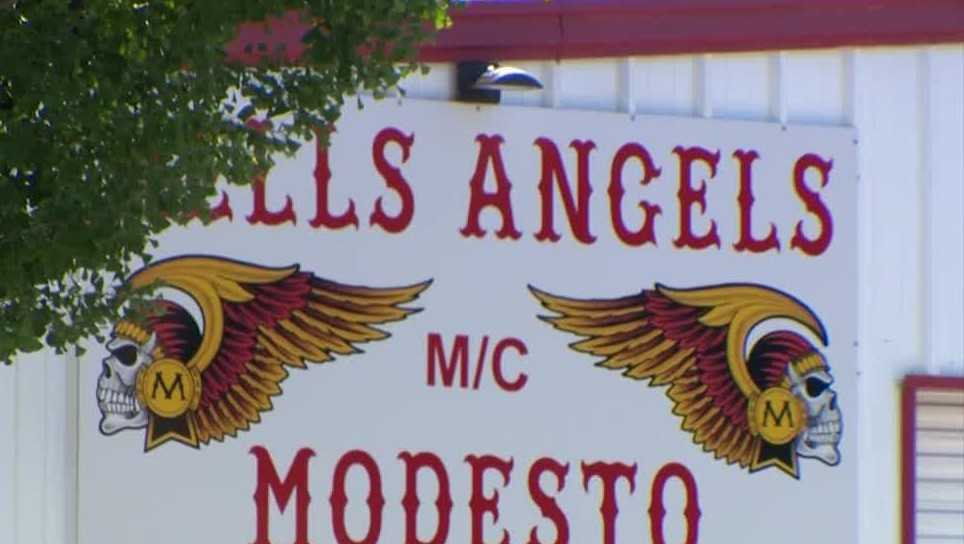 Photo of the outside of the Modesto chapter of the Hells Angels