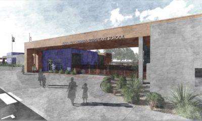 Photo of Herrera school presentation artists rendering