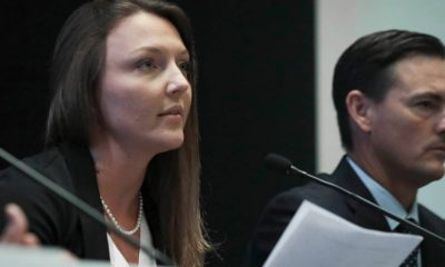 Photo of Courtney Wild and her attorney