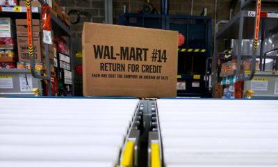 Photo of a box of Walmart merchandise