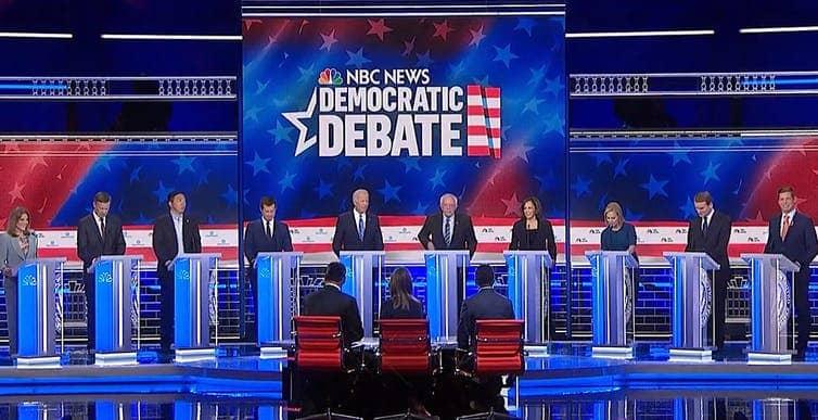 Photo of Democratic Debate