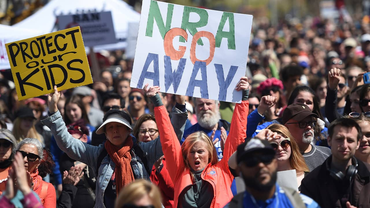 Photo of people participating in March for Our Lives