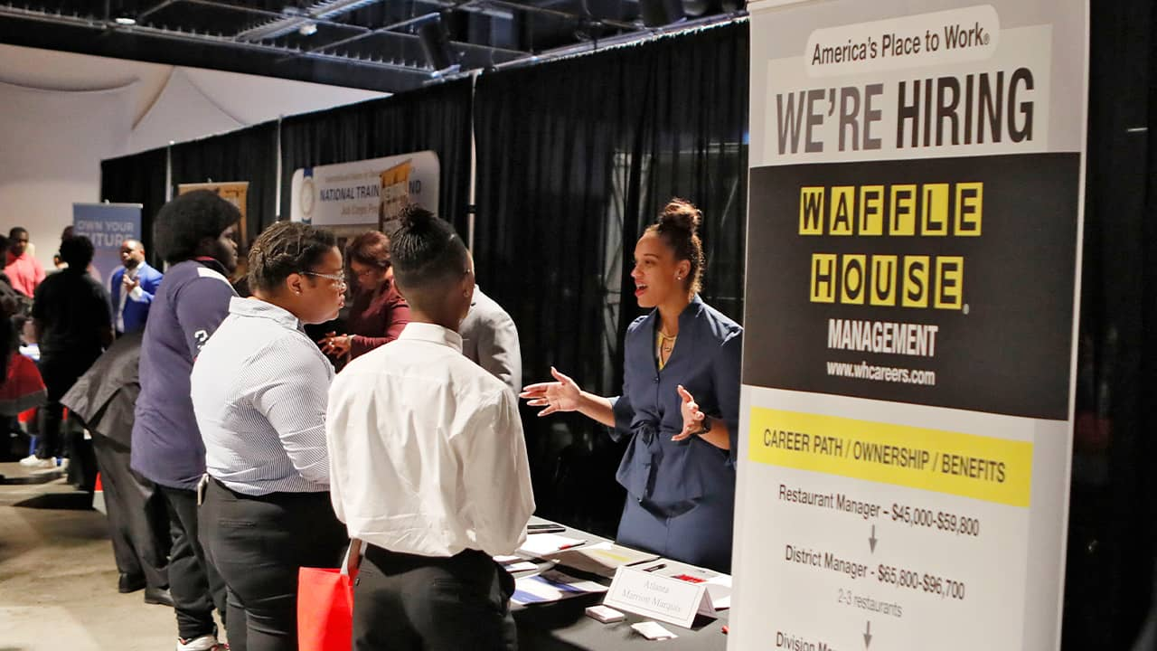 Photo of job and resource fair