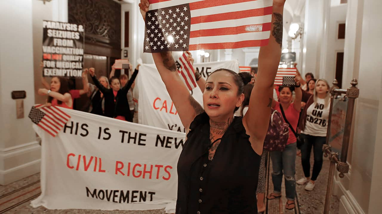 Photo of protesters of SB 276