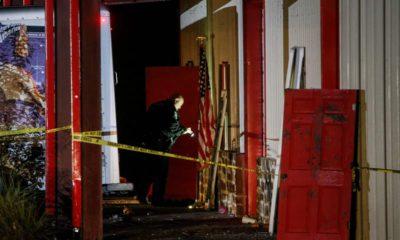 Photo of authorities working a crime scene