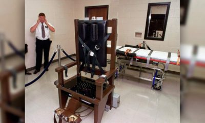 Photo of an electric chair in the execution chamber