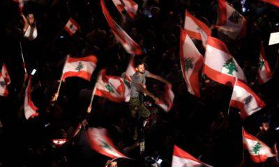 Photo of Lebanese protestors