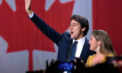 Photo of Justin Trudeau and his wife