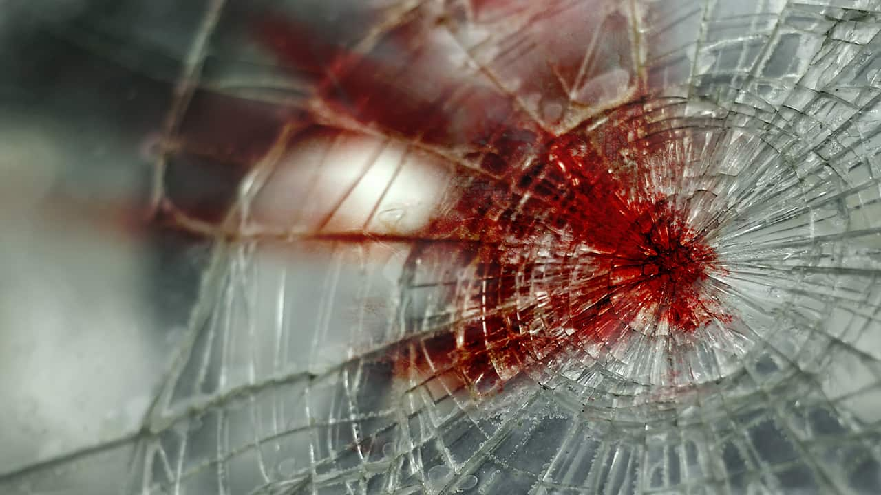 Photo of glass on a car windshield