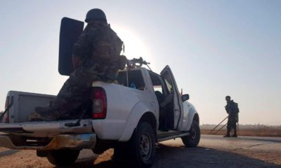 Photo of Syrian troops deploying in Tal Tamr