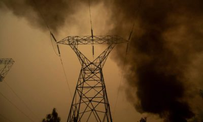 Photo of power line in Big Bend, Ca.