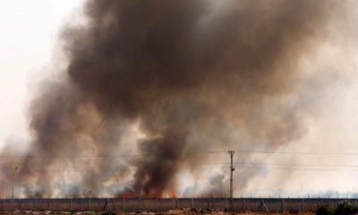 Photo of smoke in Tel Abyad, Syria