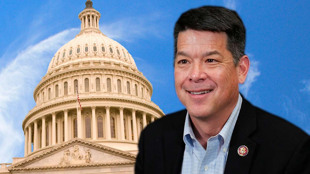 Composite image of the Capitol and Rep. TJ Cox