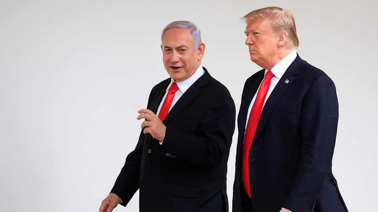 Photo of Prime Minister Benjamin Netanyahu and President Donald Trump