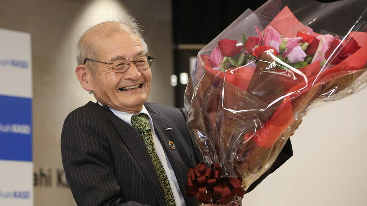 Photo of Akira Yoshino, Nobel Prize of Chemistry winner