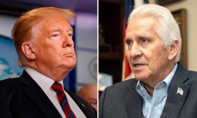 Photos of Donald Trump and Jim Costa