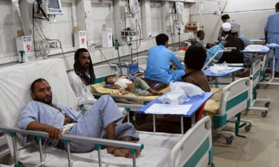Photo of wounded afghans in a hospital