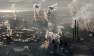 Photo of an aerial view of a steel company in Germany