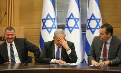 Photo of Israeli Prime Minister Benjamin Netanyahu attending a faction meeting