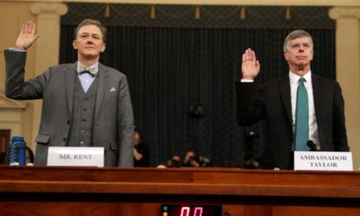 Photo of Career Foreign Service officer George Kent and top U.S. diplomat in Ukraine William Taylor