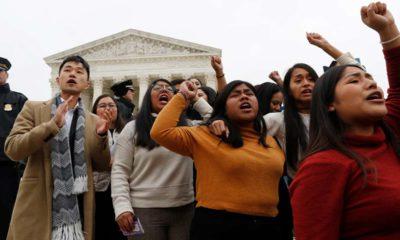photo of DACA recipients protesting