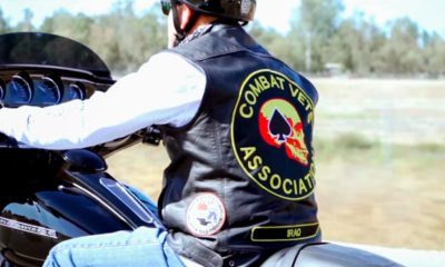 Photo of a veteran riding a motorcycle