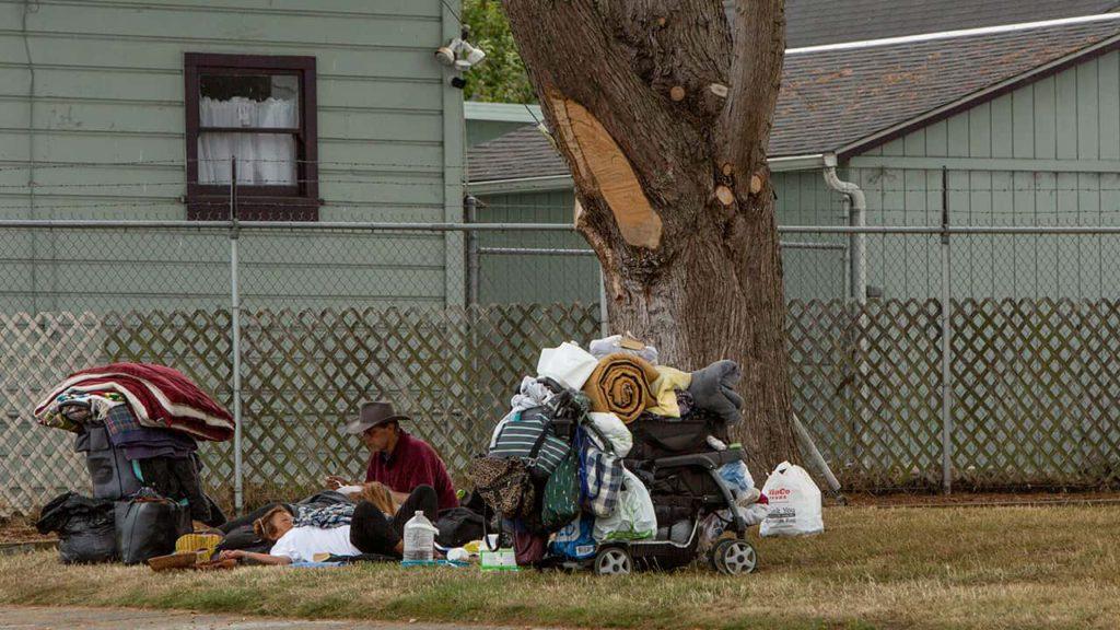 Photo of a homeless man