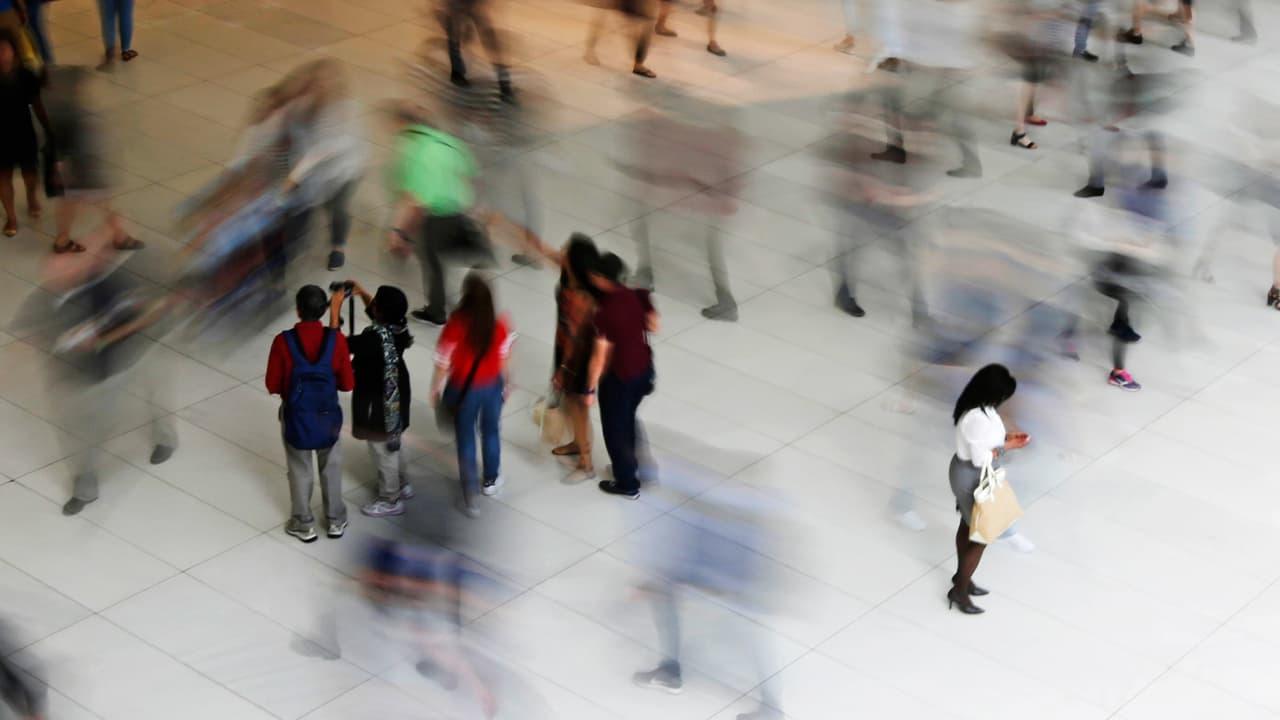 Photo of people walking inside the Oculus