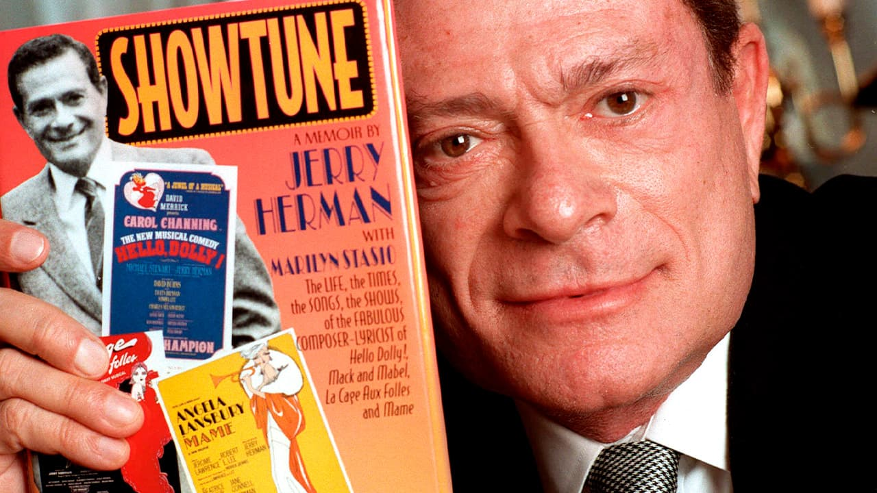 """Photo of Jerry Herman with his book, """"Showtune"""""""