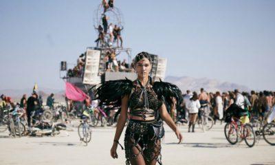 Photo of people at Burning Man