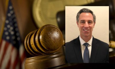 Composite image of a gavel and newly appointed Judge Samuel J. Dalesandro Jr.