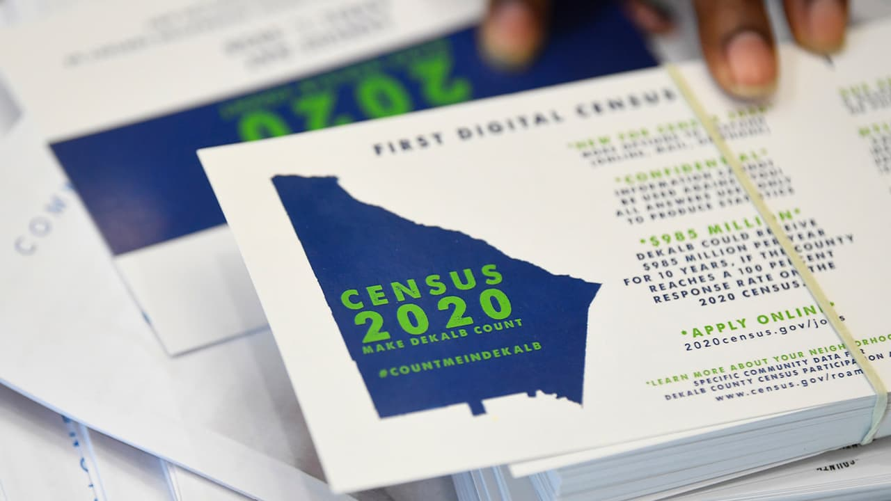 Photo of instructions on how to fill out the 2020 census