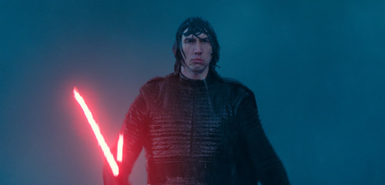 """Photo of Adam Driver as Kylo Ren in a scene from """"Star Wars: The Rise of Skywalker"""""""