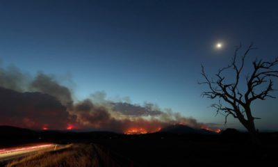 Photo of a fire near Clear Range, south of the Australian capital, Canberra