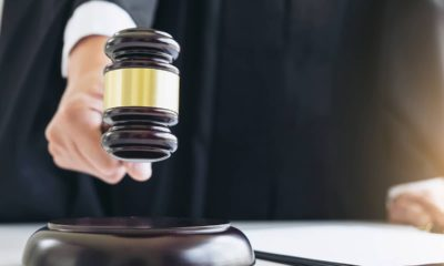 Photo of a judge banging a gavel