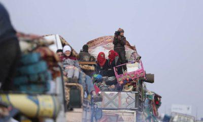 Photo of Syrians fleeing
