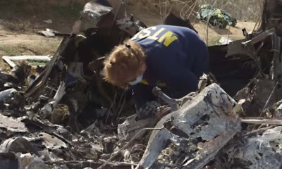 Photo of Kobe Bryant helicopter crash site and wreckage