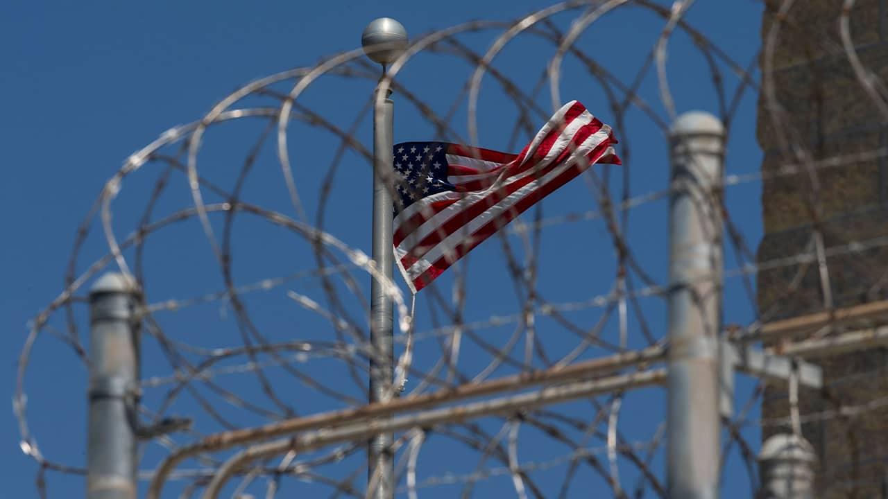 Photo of an American flag at Guantanamo Bay, Cuba