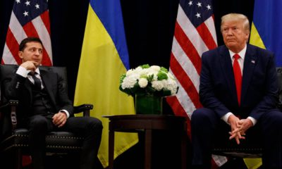 Photo of President Donald Trump and Ukrainian President Volodymyr Zelenskiy