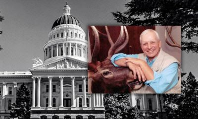 """Photo combination of the California Capitol and """"Wild Bill"""" Richardson"""