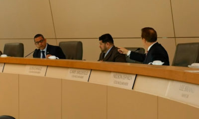 Photo of Councilmembers Garry Bredefeld, Luis Chavez and Miguel Arias