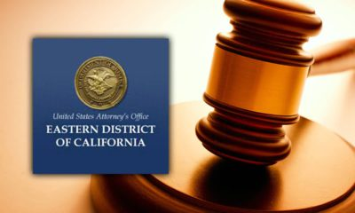 Montage of U.S. Attorney's Office logo and a court gavel
